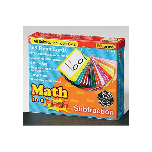Edupress Math In A Flash Subtraction Flash