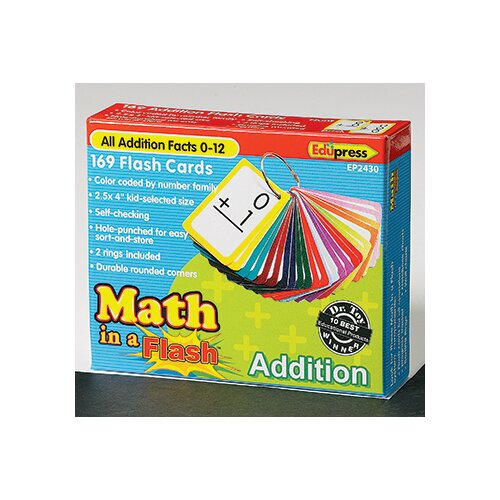 Edupress Math In A Flash Addition Flash Card