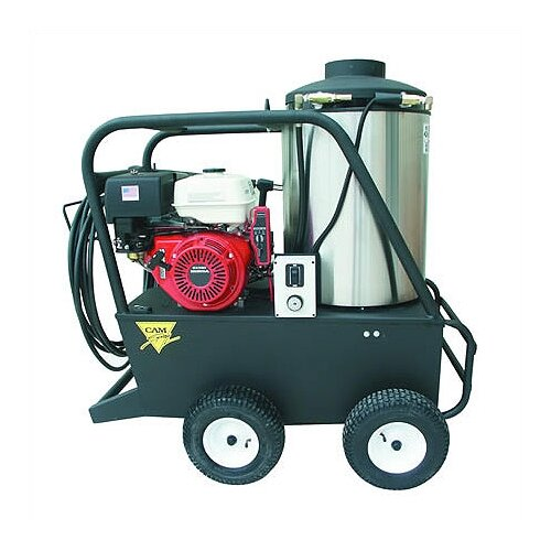 Cam Spray Q Series 3000 PSI Hot Water Gas Pressure Washer with 13 HP Honda Electric Start