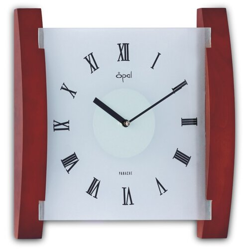 Wood and Frosted Glass Wall Clock
