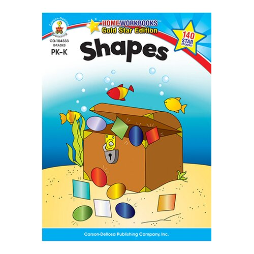 Frank Schaffer Publications/Carson Dellosa Publications Shapes Home Workbook Gr Pk-k