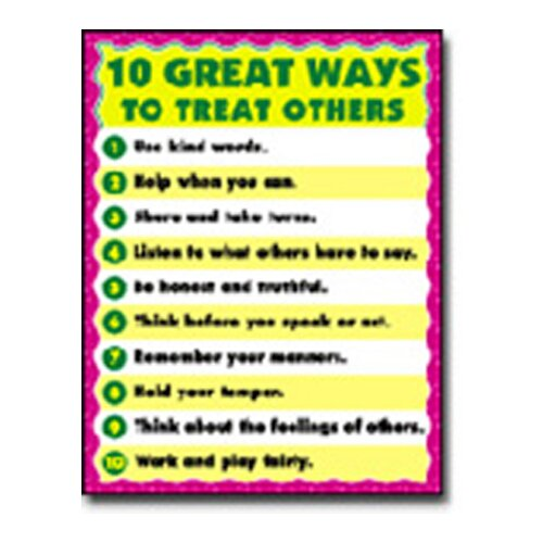 Frank Schaffer Publications/Carson Dellosa Publications Chartlet 10 Great Ways To Treat