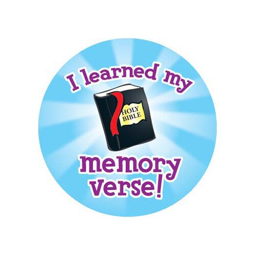 Frank Schaffer Publications/Carson Dellosa Publications I Learned My Memory Verse Stickers