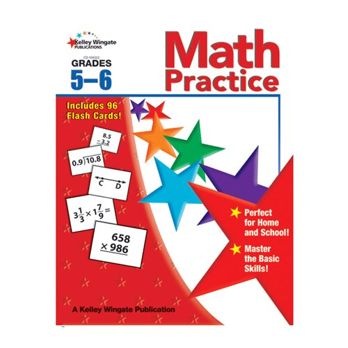 Frank Schaffer Publications/Carson Dellosa Publications Math Practice Gr 5-6 W/flash Cards