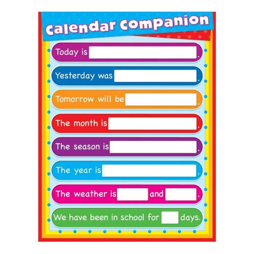 Frank Schaffer Publications/Carson Dellosa Publications Calendar Companion Laminated