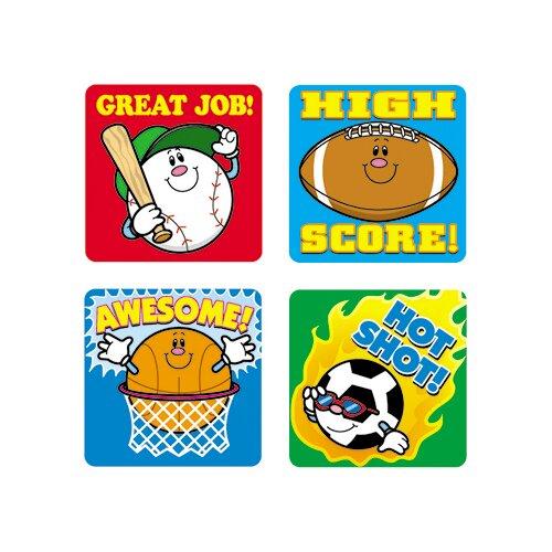Frank Schaffer Publications/Carson Dellosa Publications Stickers Sports 120/pk Acid &