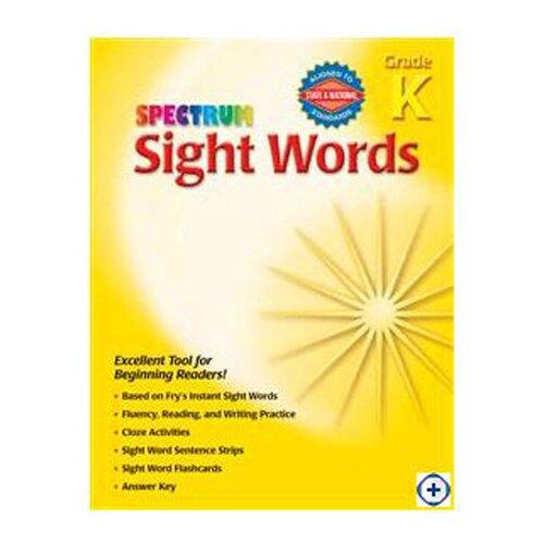 Frank Schaffer Publications/Carson Dellosa Publications Spectrum Sight Words Gr K