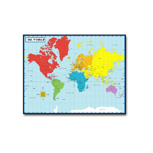 Frank Schaffer Publications/Carson Dellosa Publications Chartlet Map Of The World 17 X 22