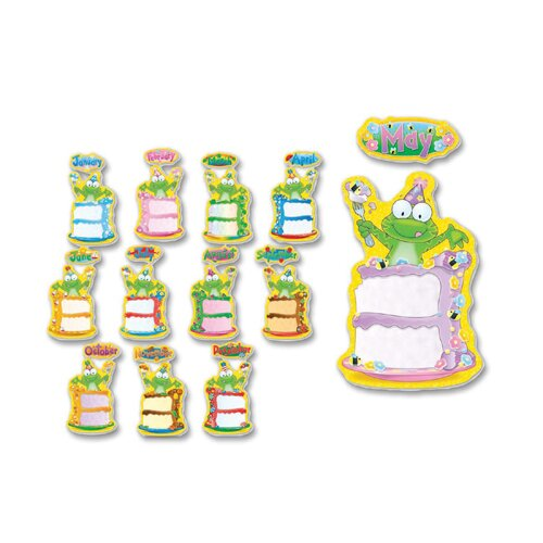 "Frank Schaffer Publications/Carson Dellosa Publications Bulletin Board, ""Birthday Frog"", 12 Headers/12 Cake Pieces"