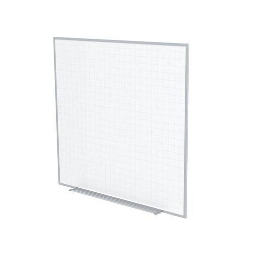 Ghent Aluminum Frame Phantom Line Magnetic Whiteboard - 4 Markers & Eraser - 2 x 2 Grid Pattern