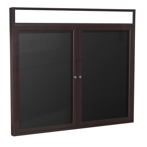 Ghent 2 Door Aluminum Frame Enclosed Vinyl Letterboard