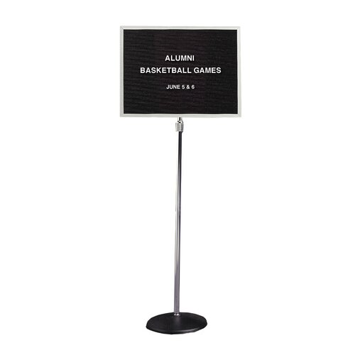 """Ghent 18"""" x 24"""" Pedestal Enclosed Changeable Letterboard"""