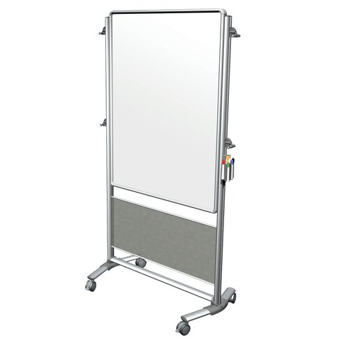 Ghent Nexus Reversible Mobile Porcelain Magnetic Whiteboard Easel