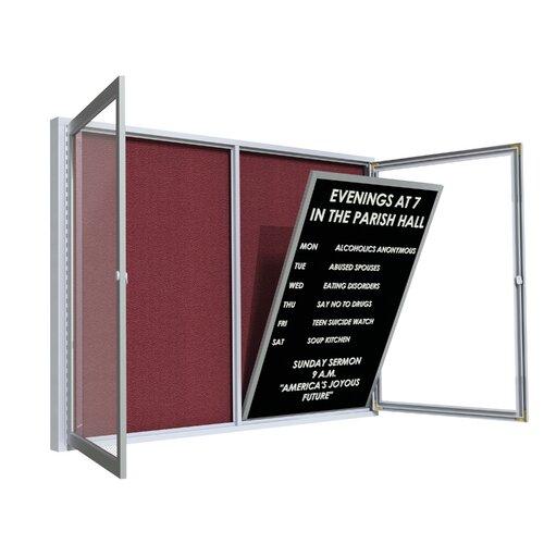 Ghent Satin Aluminum Frame Vinyl Letter Board Insert Panel for Outdoor Boards
