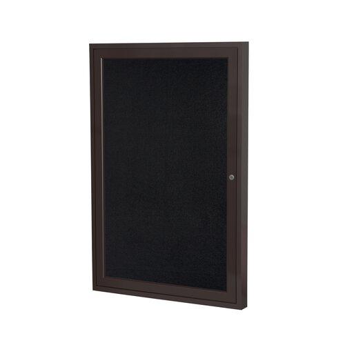 Ghent 1 Door Bronze Aluminum Recycled Rubber Bulletin Board