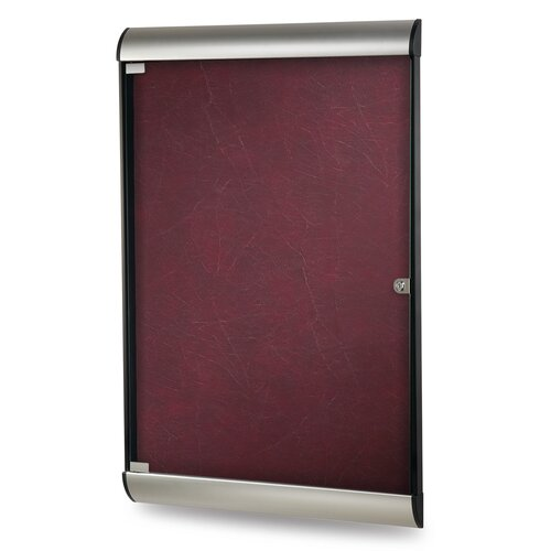 Ghent Silhouette Enclosed Aluminum PremaTak Vinyl Bulletin Board