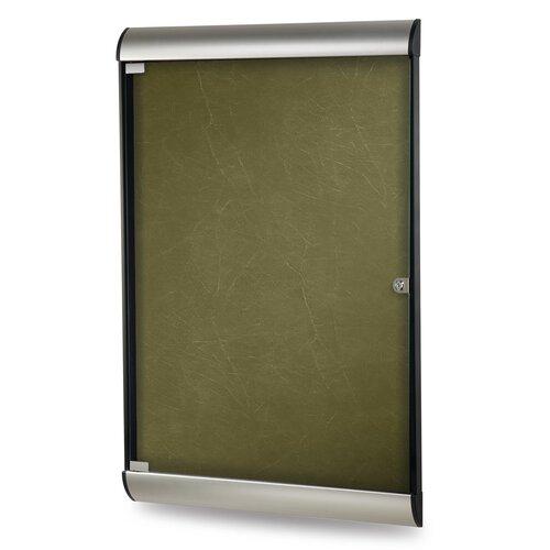 Ghent Silhouette Enclosed Aluminum PremaTak Vinyl Bulletin Board
