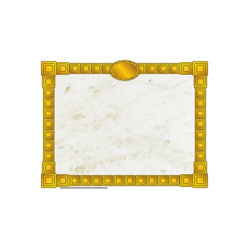 Hayes School Publishing Gold Block Certificate Border
