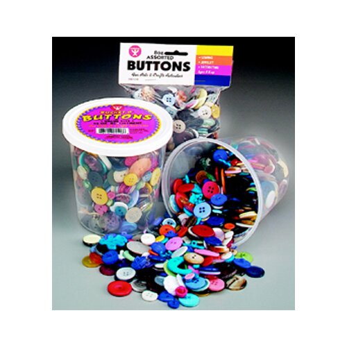 Hygloss Products Inc Asst Buttons 16 Oz Bucket