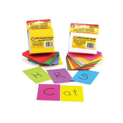 Hygloss Products Inc Rainbow Brights Pocket Cards 2