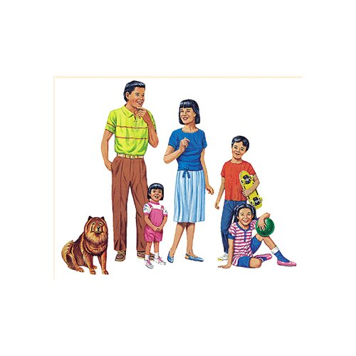 Little Folks Visuals Asian Family Flannelboard Set