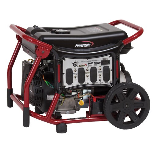 8,000 Watt Gas Generator with Recoil/Electric Start