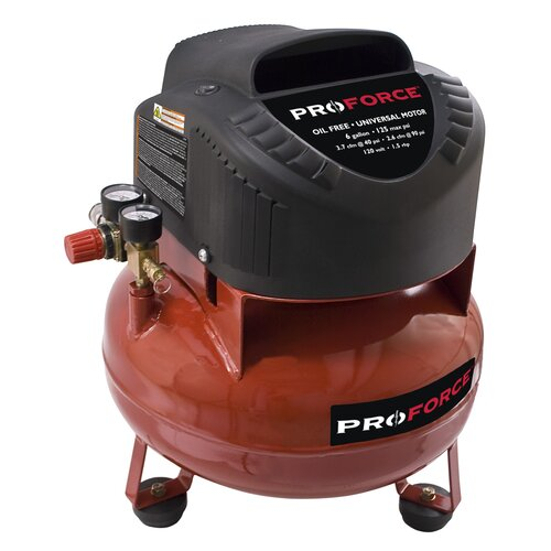 Powermate 6 Gallon Proforce Pancake Air Compressor with Extra Value Kit