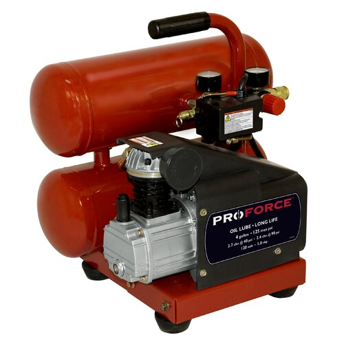 Powermate 4 Gallon Proforce Oil Lubed Air Compressor with Extra Value Kit