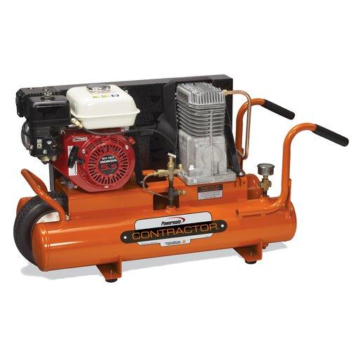 Powermate 8 Gallon Contractor Wheelbarrow Cast Iron Air Compressor