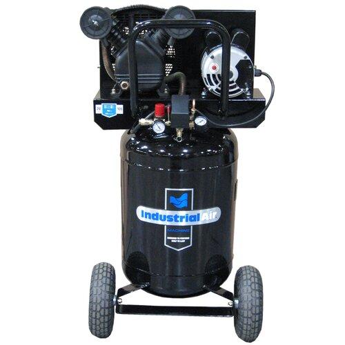 Powermate 20 Gallon Vertical Cast Iron Oil Lubricated Belt Drive Industrial Air Compressor