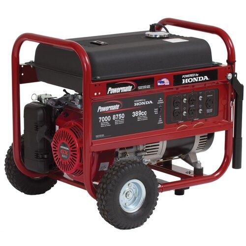 8750 Watt Gasoline Generator with Honda GX390 Recoil Start