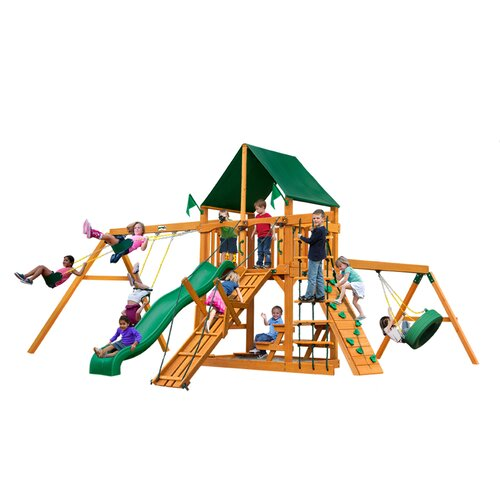 Frontier with Amber Posts and Canopy Cedar Swing Set