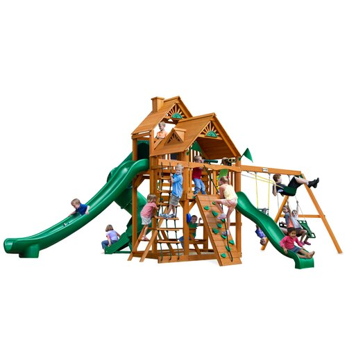 Great Skye II with Amber Posts Cedar Swing Set