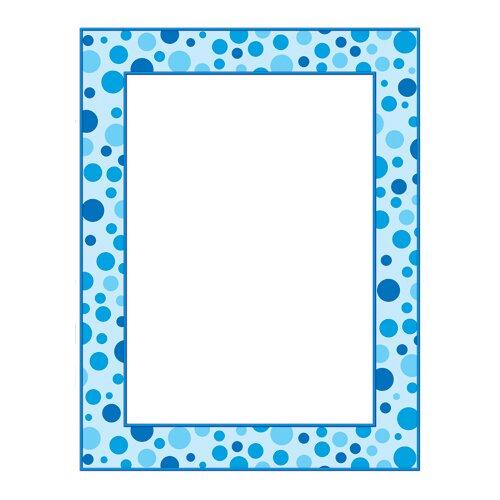 Teachers Friend Blue Polka Dots Printer Paper