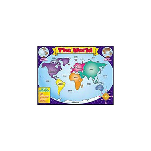 Teachers Friend World Map Friendly Chart 17x22