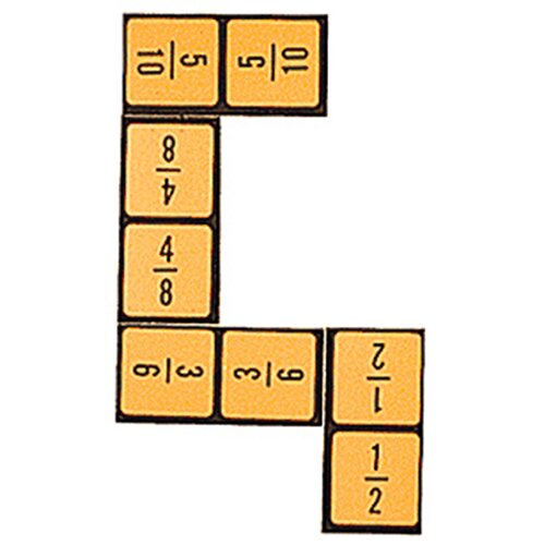 Wiebe Carlson Associates Equivalent Fraction Dominoes