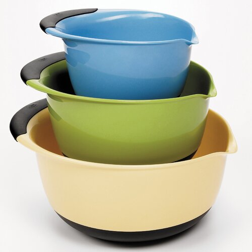 3 Piece Mixing Bowl Set - Plastic (Asst)