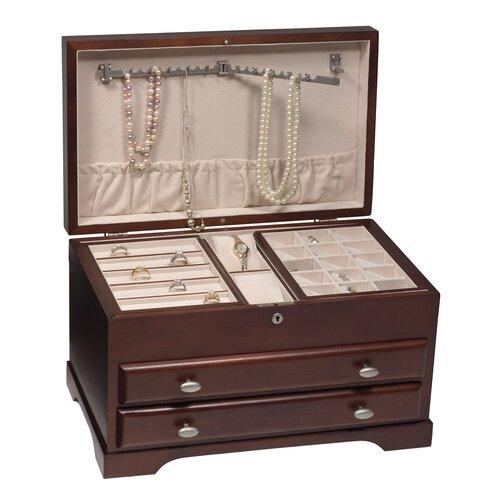 Everly Mahogany Jewelry Box