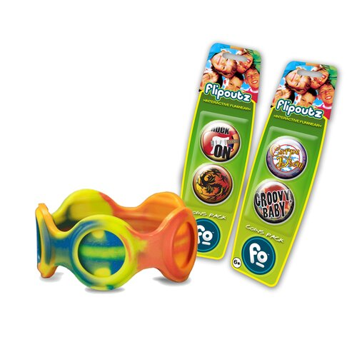 Wild Creations Flipoutz Bracelet with One Coin and Two Additional Coin Pack in Multi