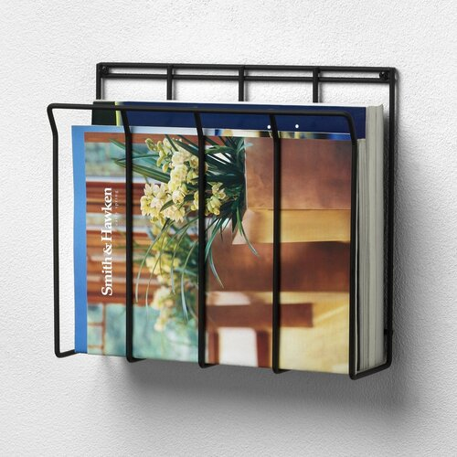 Spectrum Diversified Wall Mount Wire Magazine / Newspaper Caddy