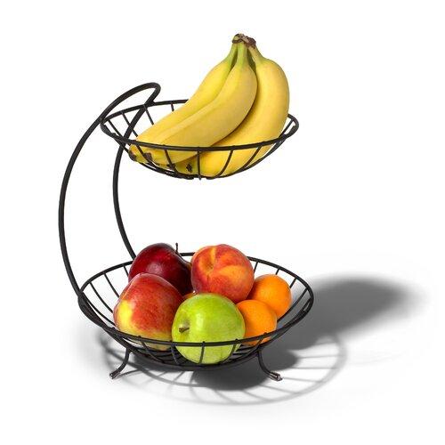 Spectrum diversified yumi 2 tier fruit basket reviews wayfair - Tiered fruit bowl ...