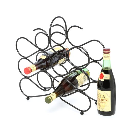 Spectrum Diversified Scroll 12 Bottle Tabletop Wine Rack