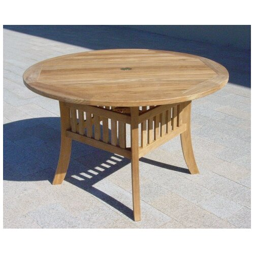Teakwood Curved Leg Dining Table