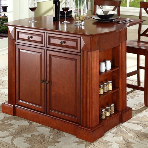 Crosley Coventry 3 Piece Kitchen Island Set & Reviews