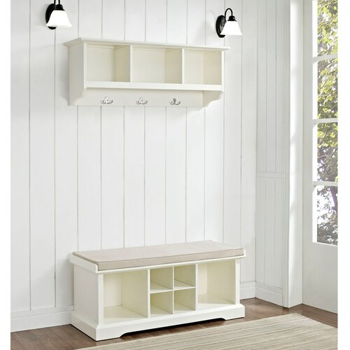 Crosley Brennan 2 Piece Entryway Bench And Shelf Set