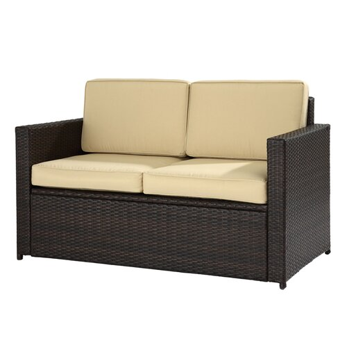 Crosley Palm Harbor Loveseat with Cushions