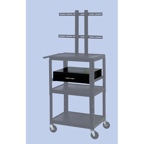 VTI Flat Panel TV Cart with Storage Cabinet