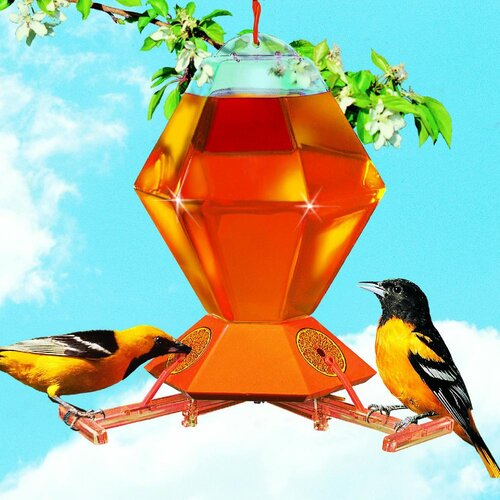 Woodstream Hummingbird Deluxe Oriole Bird Feeder