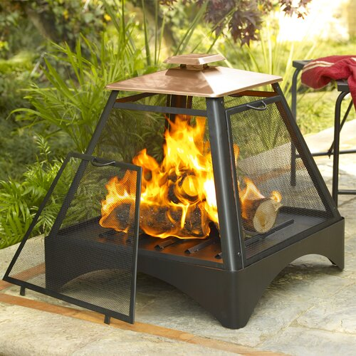 Corral Copper Pagoda Fireplace