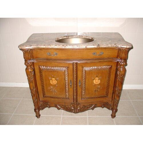 "Lanza 40"" Brass Sink Bathroom Vanity Set"
